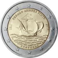 PORTUGAL 2 EURO 2011 - 500TH BIRTH ANNIVERSARY OF FERNAO MENDES PINTO