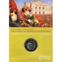 PORTUGAL 2 EURO 2010 - CENTENARY OF THE PORTUGUESE REPUBLIC -C/C