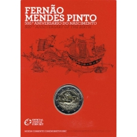 PORTUGAL 2 EURO 2011 - 500TH BIRTH ANNIVERSARY OF FERNAO MENDES PINTO -C/C