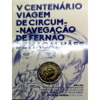PORTUGAL 2 EURO 2019 - 500TH ANNIVERSARY OF THE CIRCUMNAVIGATION OF MAGELLAN C/C