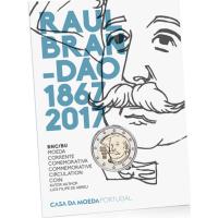 PORTUGAL 2 EURO 2017 - 150 YEARS OF THE BIRTH OF RAUL BRANDAO - C/C