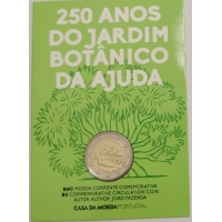 PORTUGAL 2 EURO 2018 - 250TH ANNIVERSARY OF THE AJUDA BOTANICAL GARDEN IN LISBON - C/C