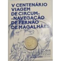 PORTUGAL 2 EURO 2019 - 500TH ANNIVERSARY OF THE CIRCUMNAVIGATION OF MAGELLAN - C/C