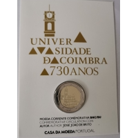 PORTUGAL 2 EURO 2020 - 730YEARS OF THE UNIVERSITY OF COIMBRA - C/C
