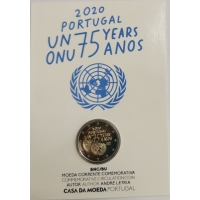 PORTUGAL 2 EURO 2020 - 75 YEARS OF THE UNITED NATIONS - C/C