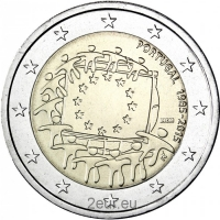 PORTUGAL 2 EURO 2015 - 30 YEARS OF THE EU FLAG