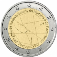 PORTUGAL 2 EURO 2019 - 600TH ANNIVERSARY OF THE DISCOVERY  ISLAND OF MADEIRA