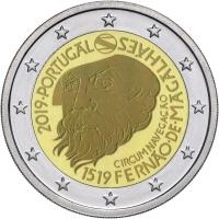 PORTUGAL 2 EURO 2019 - 500TH ANNIVERSARY OF THE CIRCUMNAVIGATION OF MAGELLAN