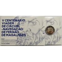 PORTUGAL 2 EURO 2019 - 500TH ANNIVERSARY OF THE CIRCUMNAVIGATION OF MAGELLAN - PROOF