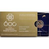 PORTUGAL 2 EURO 2019 - 600TH ANNIVERSARY OF THE DISCOVERY ISLAND OF MADEIRA - PROOF