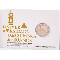 PORTUGAL 2 EURO 2020 - 730YEARS OF THE UNIVERSITY OF COIMBRA - PROOF