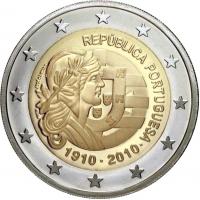 PORTUGAL 2 EURO 2010 - CENTENARY OF THE PORTUGUESE REPUBLIC