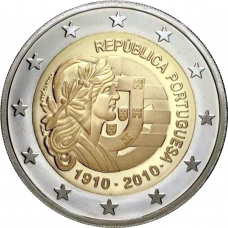 PORTUGAL 2 EURO 2010 - CENTENARY OF THE PORTUGUESE REPUBLIC