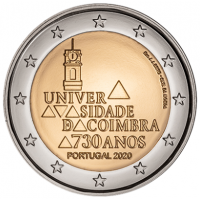 PORTUGAL 2 EURO 2020 - 730YEARS OF THE UNIVERSITY OF COIMBRA