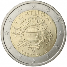 PORTUGAL 2 EURO 2012 - 10 YEARS OF EURO