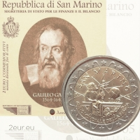 SAN MARINO 2 EURO 2005 - GALILEO GALILEI