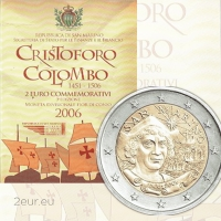 SAN MARINO 2 EURO 2006 - CHRISTOPHER COLOMBUS
