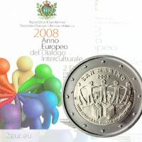 SAN MARINO 2 EURO 2008 - EUROPEAN YEAR OF INTERCULTURAL DIALOGUE