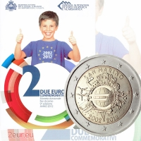 SAN MARINO 2 EURO 2012 - 10 YEARS OF EURO