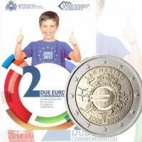 SAN MARINO 2 EURO 2012 - 10 YEARS OF EURO