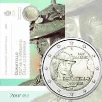 SAN MARINO 2 EURO 2016 - 550 YEARS SINCE THE DEATH OF DONATELLO