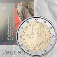 SAN MARINO 2 EURO 2018/2 - 420TH ANNIVERSARY OF THE BIRTH OF GIOVANNI LORENZO BERNINI