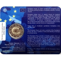 SLOVAKIA 2 EURO 2015 - 30 YEARS OF THE EU FLAG -C/C