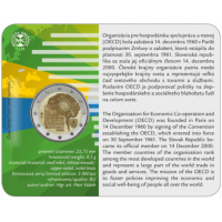 SLOVAKIA 2 EURO 2020 - 20TH ANNIVERSARY OF THE ACCESSION OF SLOVAKIA TO THE OECD - C/C