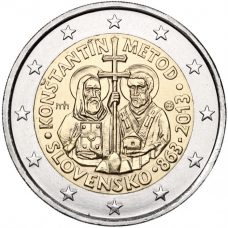 SLOVAKIA 2 EURO 2013 - SAINTS CYRIL AND METHODIUS