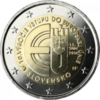 SLOVAKIA 2 EURO 2014 -10 YEARS OF SLOVAKIAN MEMBERSHIP IN EU