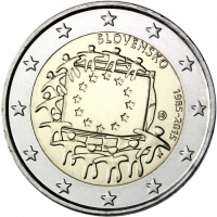 SLOVAKIA 2 EURO 2015 - 30 YEARS OF THE EU FLAG
