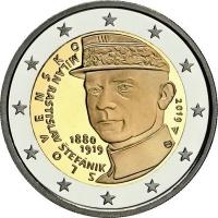 SLOVAKIA 2 EURO 2019 - 100TH ANNIVERSARY OF THE DEATH OF MILAN ROSTISLAV STEFANIK