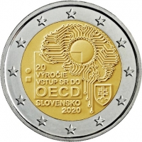 SLOVAKIA 2 EURO 2020 - 20TH ANNIVERSARY OF THE ACCESSION OF SLOVAKIA TO THE OECD