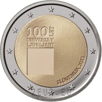 SLOVENIA 2 EURO 2019 - 100TH ANNIVERSARY OF THE FOUNDING UNIVERSITY OF LJUBLJANA