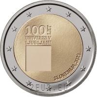 SLOVENIA 2 EURO 2019 - 100TH ANNIVERSARY OF THE FOUNDING UNIVERSITY OF LJUBLJANA