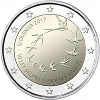 SLOVENIA 2 EURO 2017 - 10TH ANNIVERSARY OF THE EURO