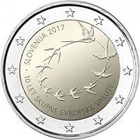 SLOVENIA 2 EURO 2017 - 10TH ANNIVERSARY OF THE EURO