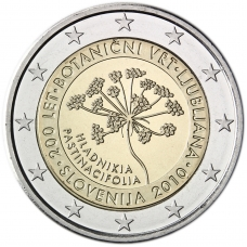 SLOVENIA 2 EURO 2010 - LJUBLJANA'S BOTANICAL GARDEN
