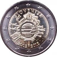 SLOVENIA 2 EURO 2012 - 10 YEARS OF EURO PROOF