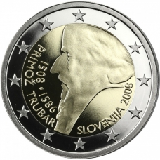 SLOVENIA 2 EURO 2008 - PRIMOŽ TRUBAR PROOF
