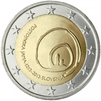 SLOVENIA 2 EURO 2013 - 800 YEARS OF DISCOVERY OF POSTOJNA'S CAVE