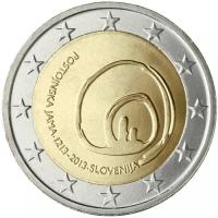 SLOVENIA 2 EURO 2013 - 800 YEARS OF DISCOVERY OF POSTOJNA'S CAVE