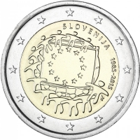 SLOVENIA 2 EURO 2015 - 30 YEARS OF THE EU FLAG