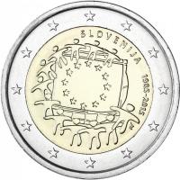 SLOVENIA 2 EURO 2015 - 30 YEARS OF THE EU FLAG
