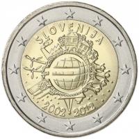 SLOVENIA 2 EURO 2012 - 10 YEARS OF EURO