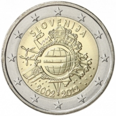 SLOVENIA 2 EURO 2012 - 10 YEARS OF EURO