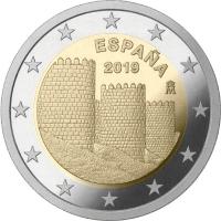 SPAIN 2 EURO 2019 - AVILA OLD TOWN