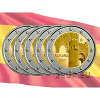 SPAIN 2 EURO 2021 - HISTORIC CITY OF TOLEDO (5pcs)
