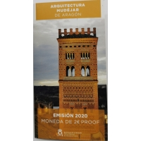 SPAIN 2 EURO 2020 - MUDEJAR ARCHITECTURE IN ARAGON - PROOF