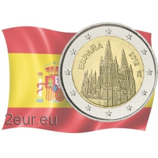 SPAIN 2 EURO 2012 - BURGOS CATHEDRAL